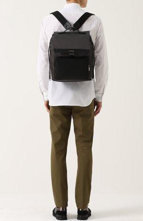 Текстильный рюкзак с внешним карманом на молнии | Фото №2