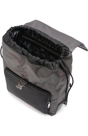 Текстильный рюкзак с внешним карманом на молнии | Фото №4