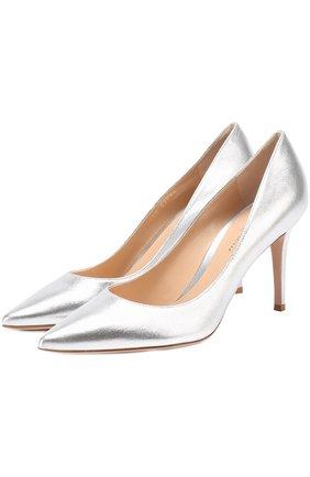 Туфли Gianvito 85 из металлизированной кожи на шпильке | Фото №1