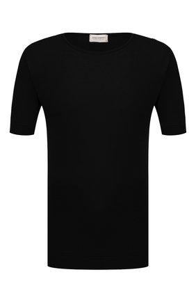 Мужской хлопковый джемпер JOHN SMEDLEY черного цвета, арт. BELDEN | Фото 1