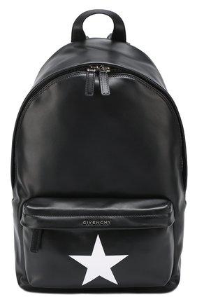 Кожаный рюкзак с логотипом бренда | Фото №1