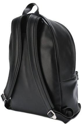 Кожаный рюкзак с логотипом бренда | Фото №3