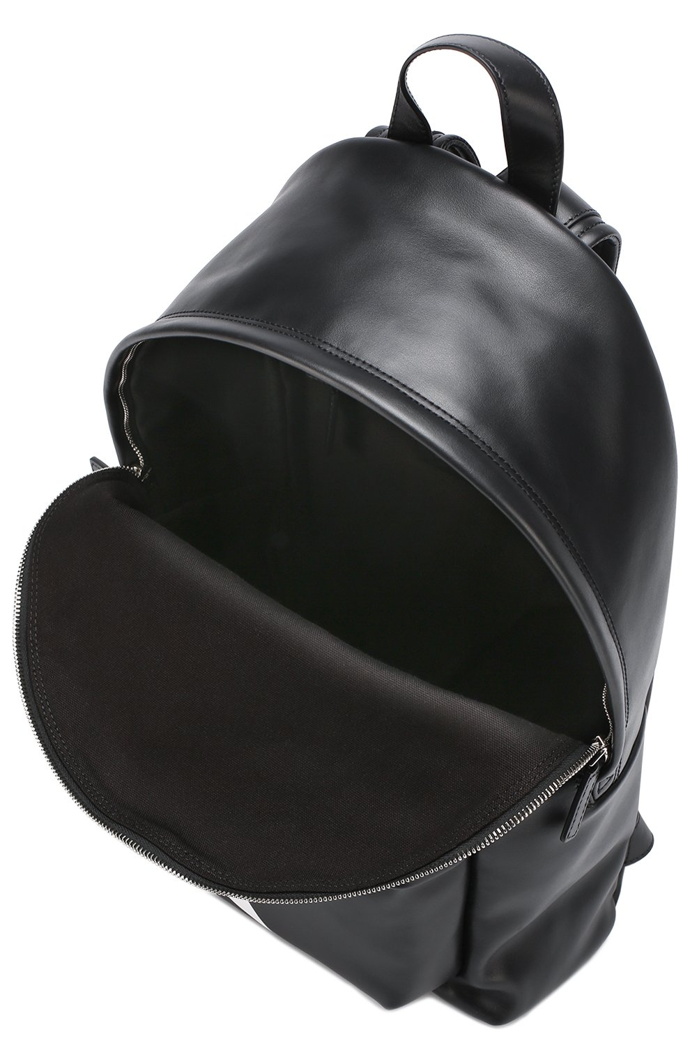 Кожаный рюкзак с логотипом бренда | Фото №4