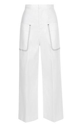 Укороченные широкие брюки с накладными карманами Aquilano Rimondi белые | Фото №1