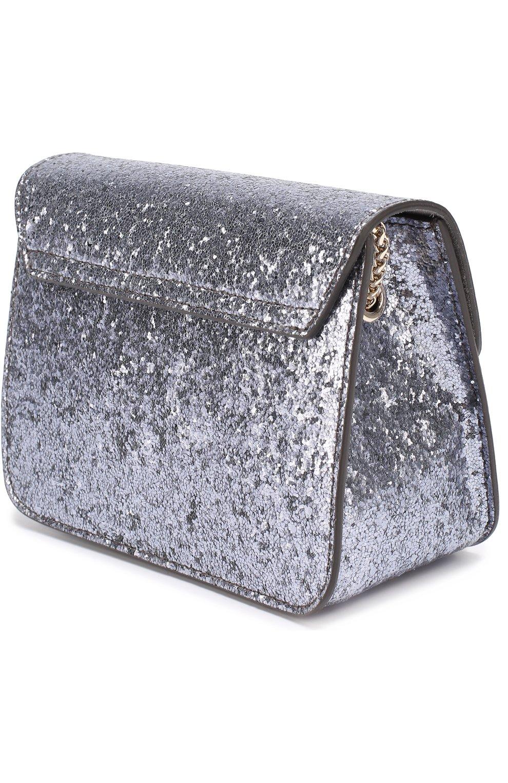3dd9376d052e Сумка Metropolis с глиттером FURLA серебряного цвета — купить за ...