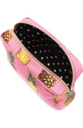 Несессер из принтованного нейлона Dolce & Gabbana розовая | Фото №3