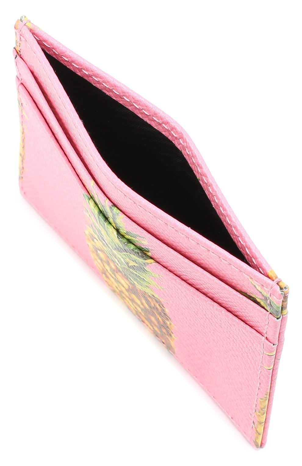 Кожаный футляр для кредитных карт Dolce & Gabbana розового цвета   Фото №3