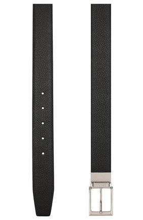 Мужской кожаный ремень CANALI черного цвета, арт. KA00107/50 | Фото 2