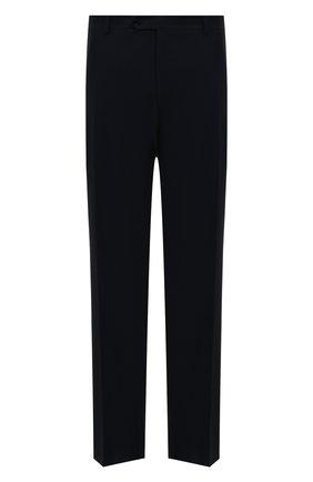 Мужской шерстяные брюки прямого кроя CANALI темно-синего цвета, арт. AT00552/71012 | Фото 1
