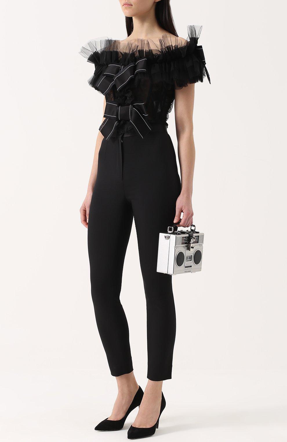 Замшевые туфли Kate Dolce & Gabbana черные | Фото №2
