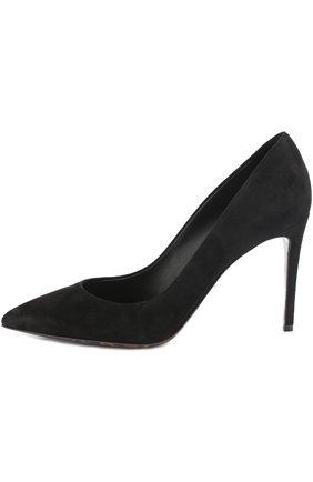 Замшевые туфли Kate Dolce & Gabbana черные | Фото №3