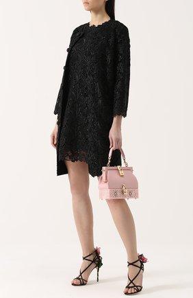 Кружевное мини-платье без рукавов | Фото №2