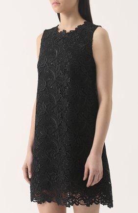 Кружевное мини-платье без рукавов | Фото №3