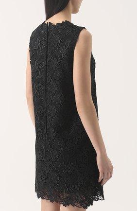 Кружевное мини-платье без рукавов | Фото №4