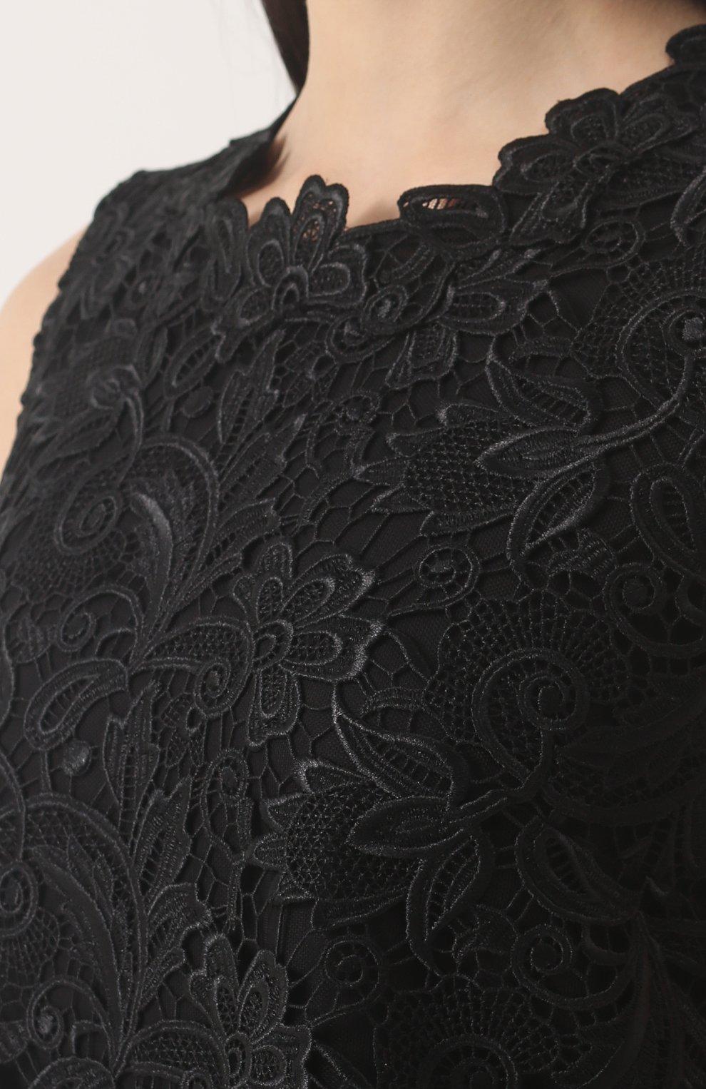 Кружевное мини-платье без рукавов | Фото №5
