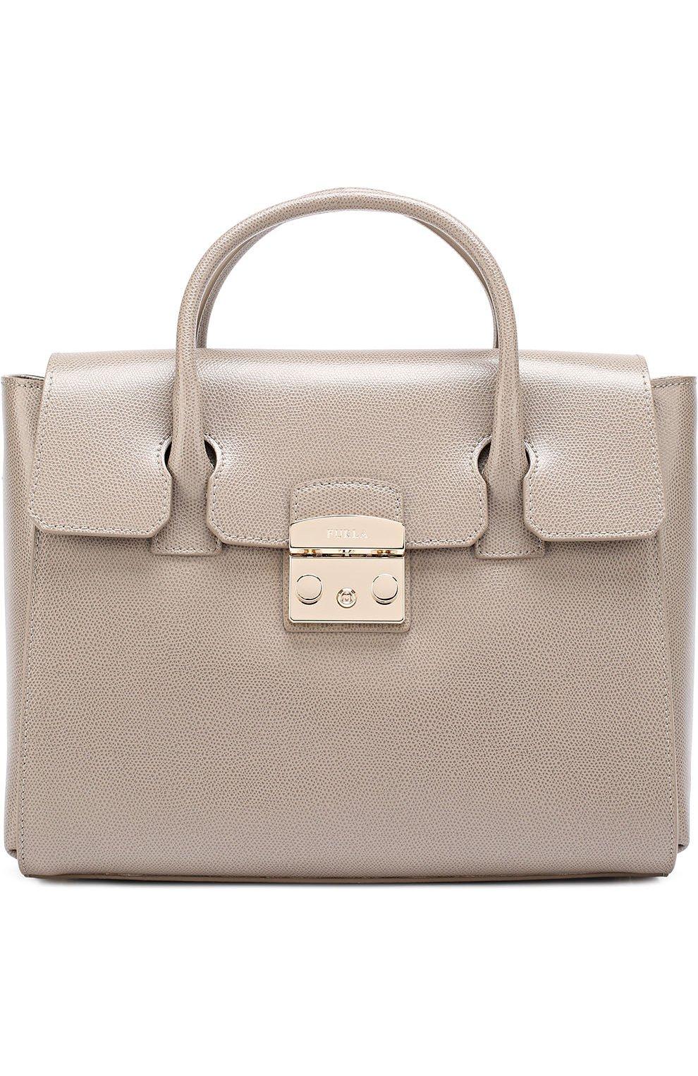 Женская сумка-тоут metropolis FURLA серого цвета — купить за 33500 ... a5191771636