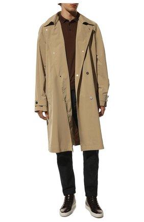 Мужские высокие кожаные кеды на шнуровке RALPH LAUREN коричневого цвета, арт. 751/XZ5R0/XY4ZI | Фото 2