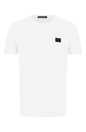 Мужская хлопковая футболка с круглым вырезом  DOLCE & GABBANA белого цвета, арт. 0101/G8GX8T/G7JYY   Фото 1