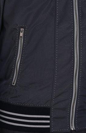 Бомбер на молнии с контрастной прострочкой  Dolce & Gabbana синяя | Фото №5