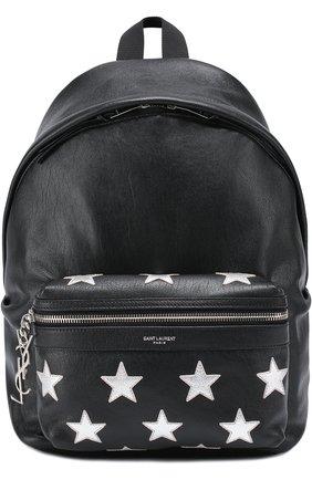 Кожаный рюкзак с аппликацией | Фото №1