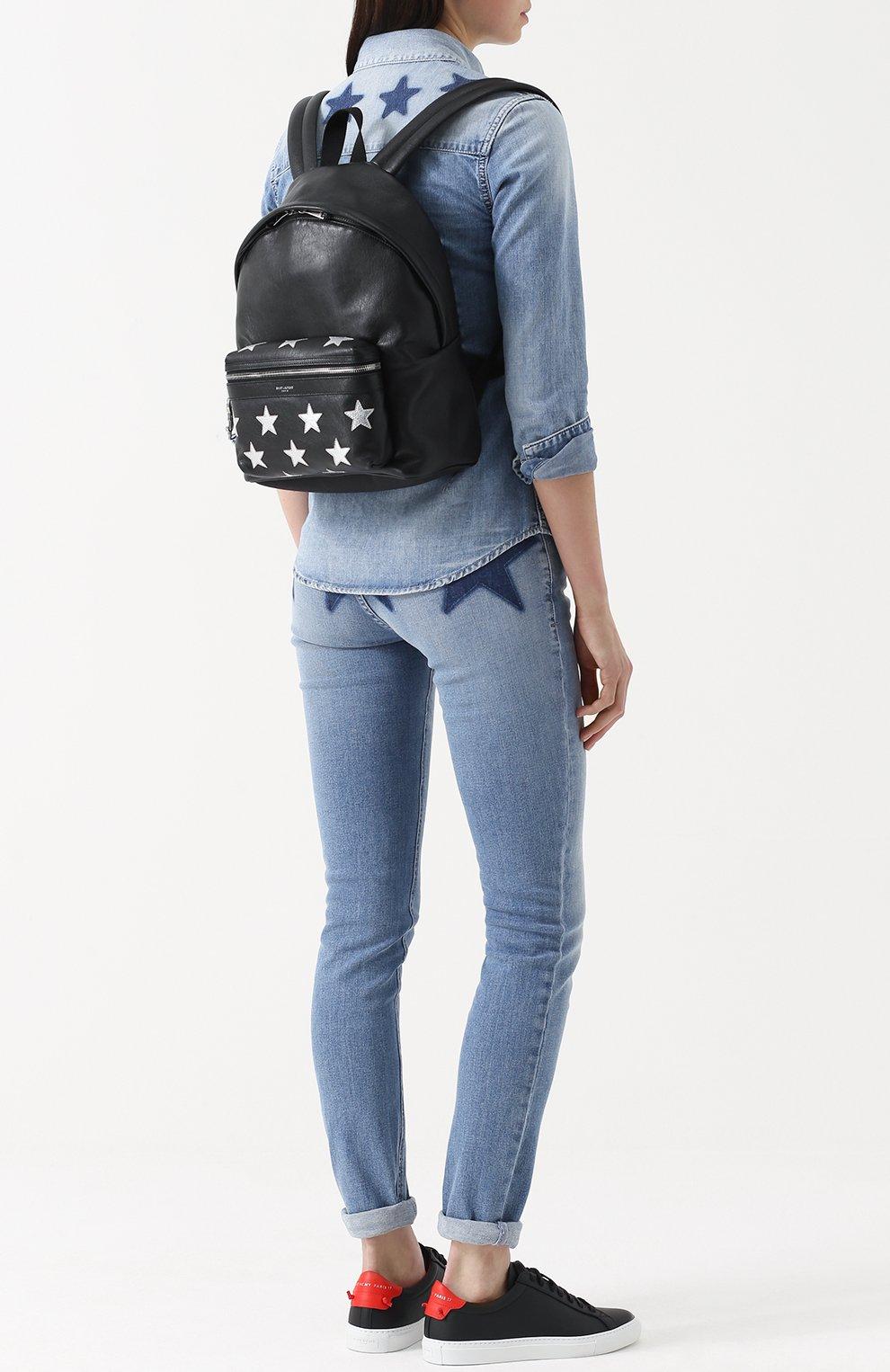 Кожаный рюкзак с аппликацией | Фото №2