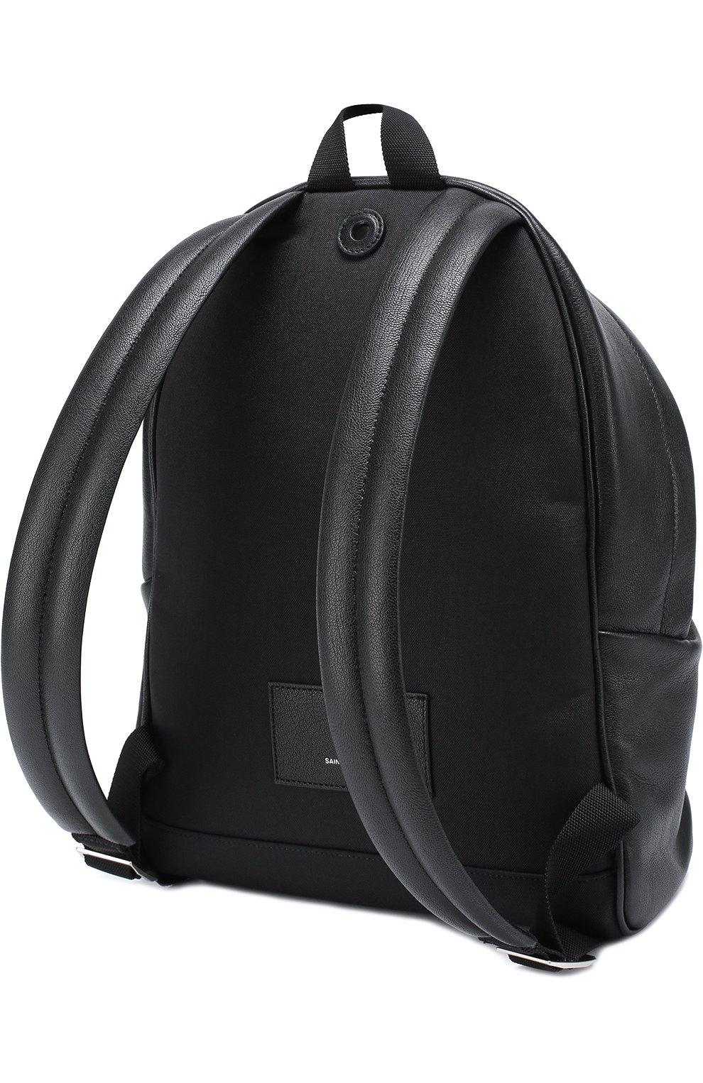 Кожаный рюкзак с аппликацией | Фото №3