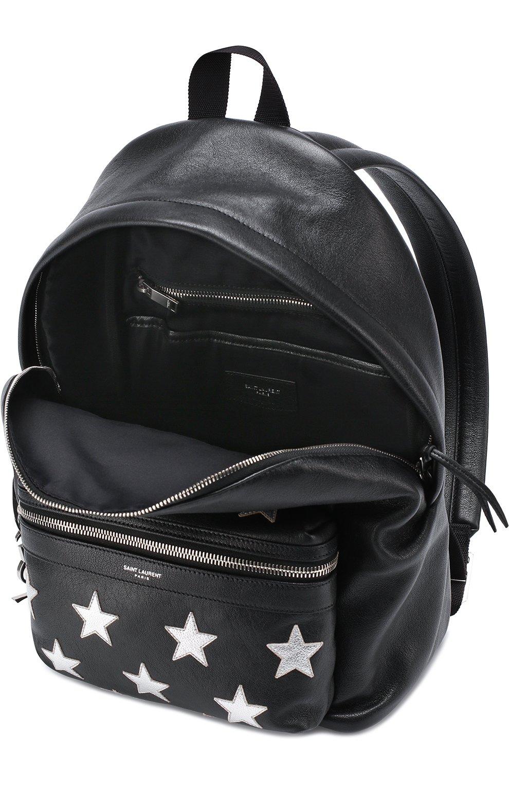 Кожаный рюкзак с аппликацией | Фото №4