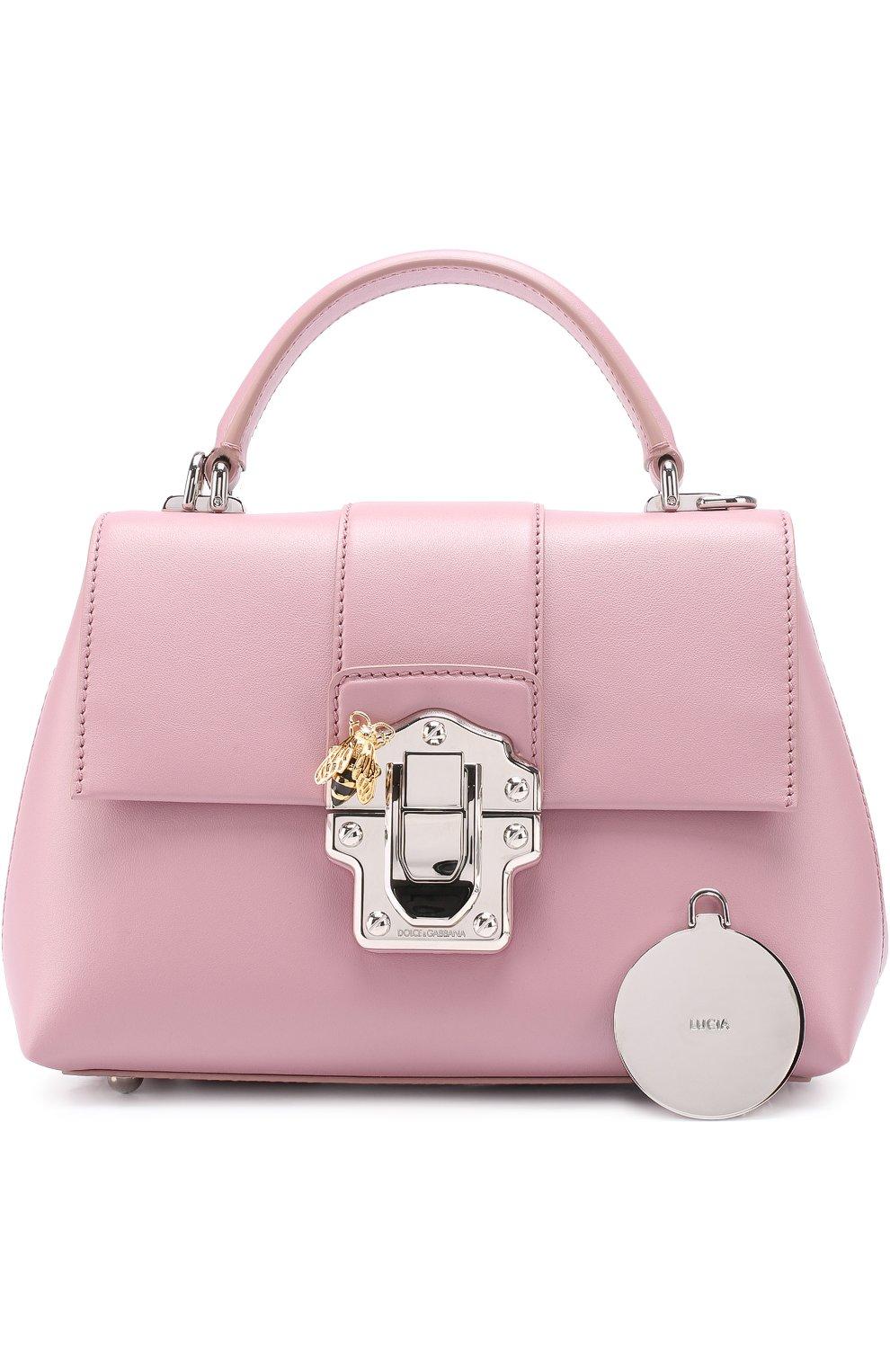 Сумка Lucia small Dolce & Gabbana розовая цвета   Фото №6