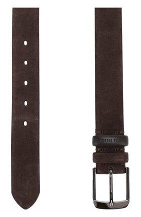 Замшевый ремень с металлической пряжкой Pal Zileri коричневый | Фото №1