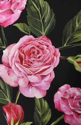 Облегающий топ без рукавов с цветочным принтом Dolce & Gabbana розовый   Фото №5
