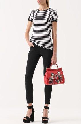 Укороченные джинсы-скинни Dolce & Gabbana черные   Фото №2