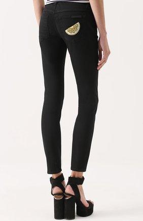 Укороченные джинсы-скинни Dolce & Gabbana черные   Фото №4