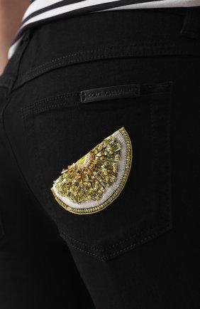 Укороченные джинсы-скинни Dolce & Gabbana черные   Фото №5