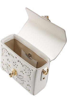 Сумка Dolce Soft с перфорацией Dolce & Gabbana белая цвета | Фото №4