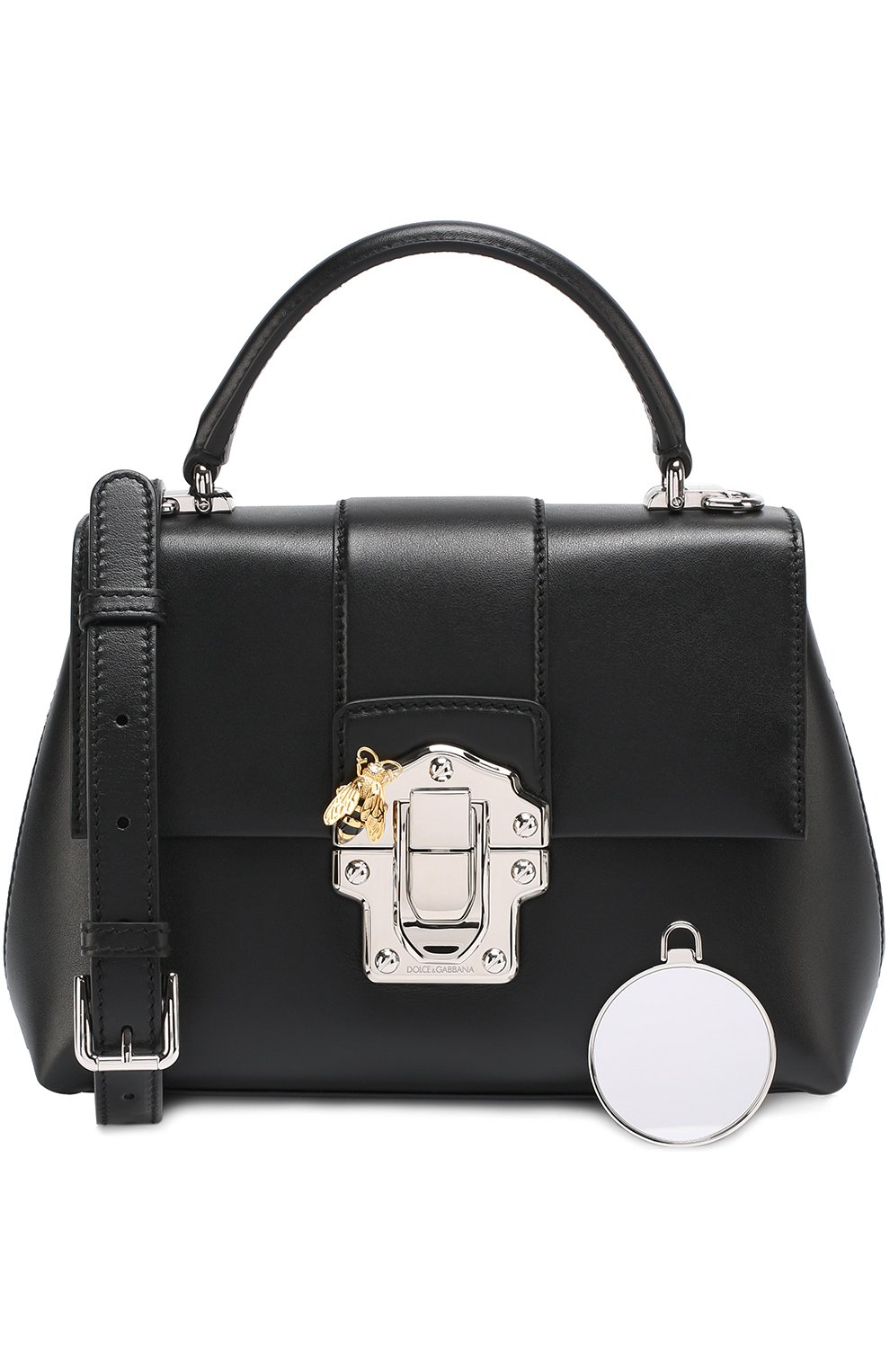 Сумка Lucia small Dolce & Gabbana черная цвета | Фото №6