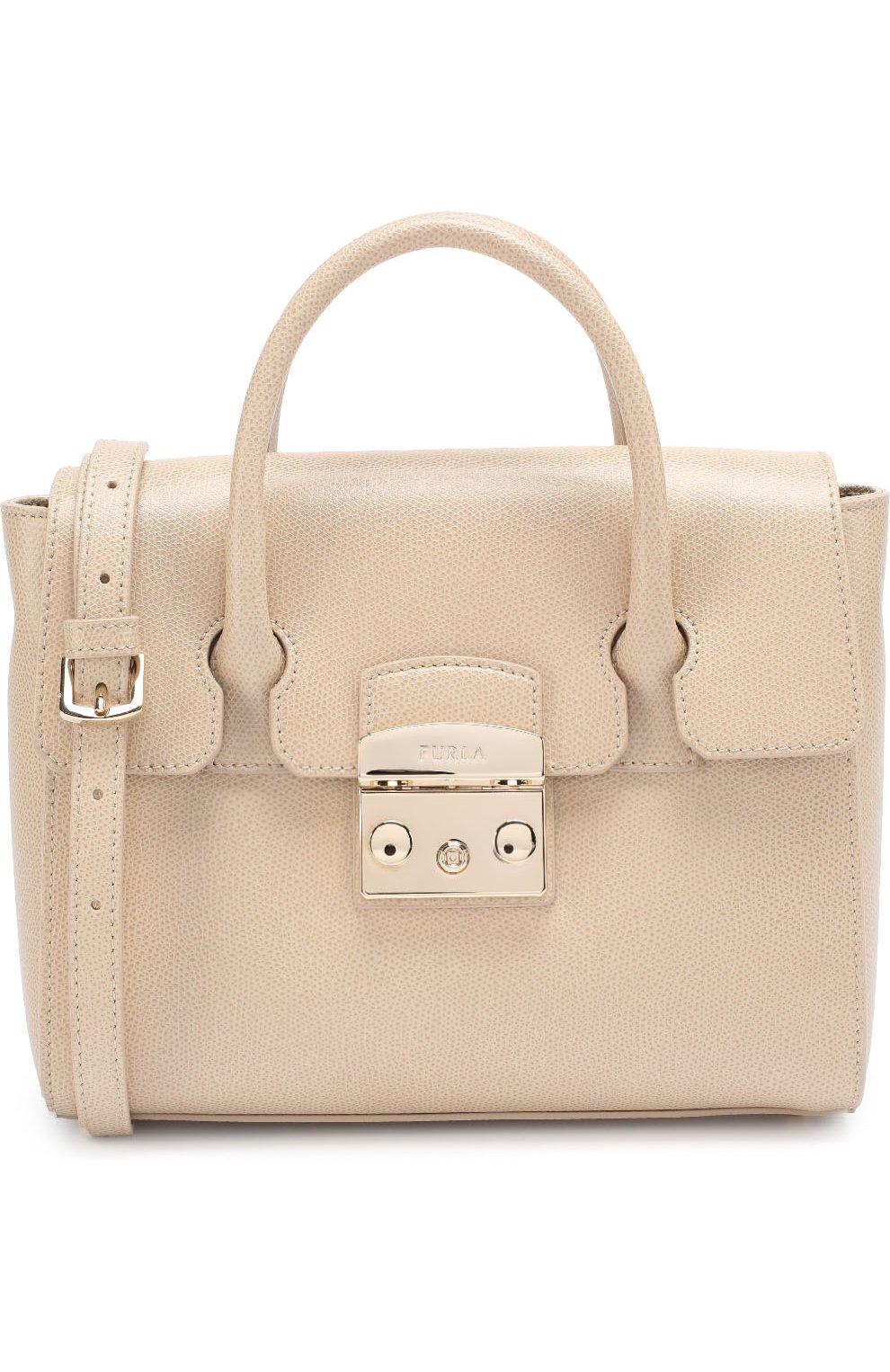 Женская сумка-тоут metropolis FURLA бежевого цвета — купить за 29000 ... 9286b571a0b