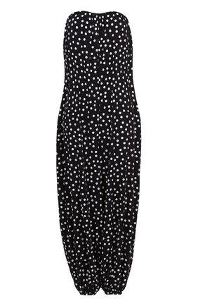 Шелковый комбинезон-бюстье в горох Dolce & Gabbana черно-белый | Фото №1