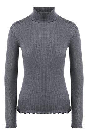 Женская водолазка из смеси шерсти и шелка DANA PISARRA серого цвета, арт. PARIGI/W008 | Фото 1