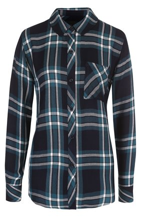 Женская блуза прямого кроя в клетку с накладным карманом Rails, цвет бордовый, арт. HUNTER/550-10/HUNTER/500-11 в ЦУМ   Фото №1
