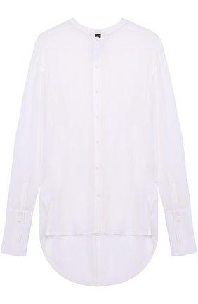 Женская шелковая полупрозрачная блуза с удлиненной спинкой Ilaria Nistri, цвет белый, арт. 24CY307/14 в ЦУМ | Фото №1