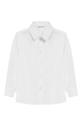 Детская хлопковая рубашка DOLCE & GABBANA белого цвета, арт. 0131/L41S67/FUEAJ/2-6 | Фото 1