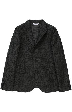 Пиджак из фактурной ткани с узором | Фото №1