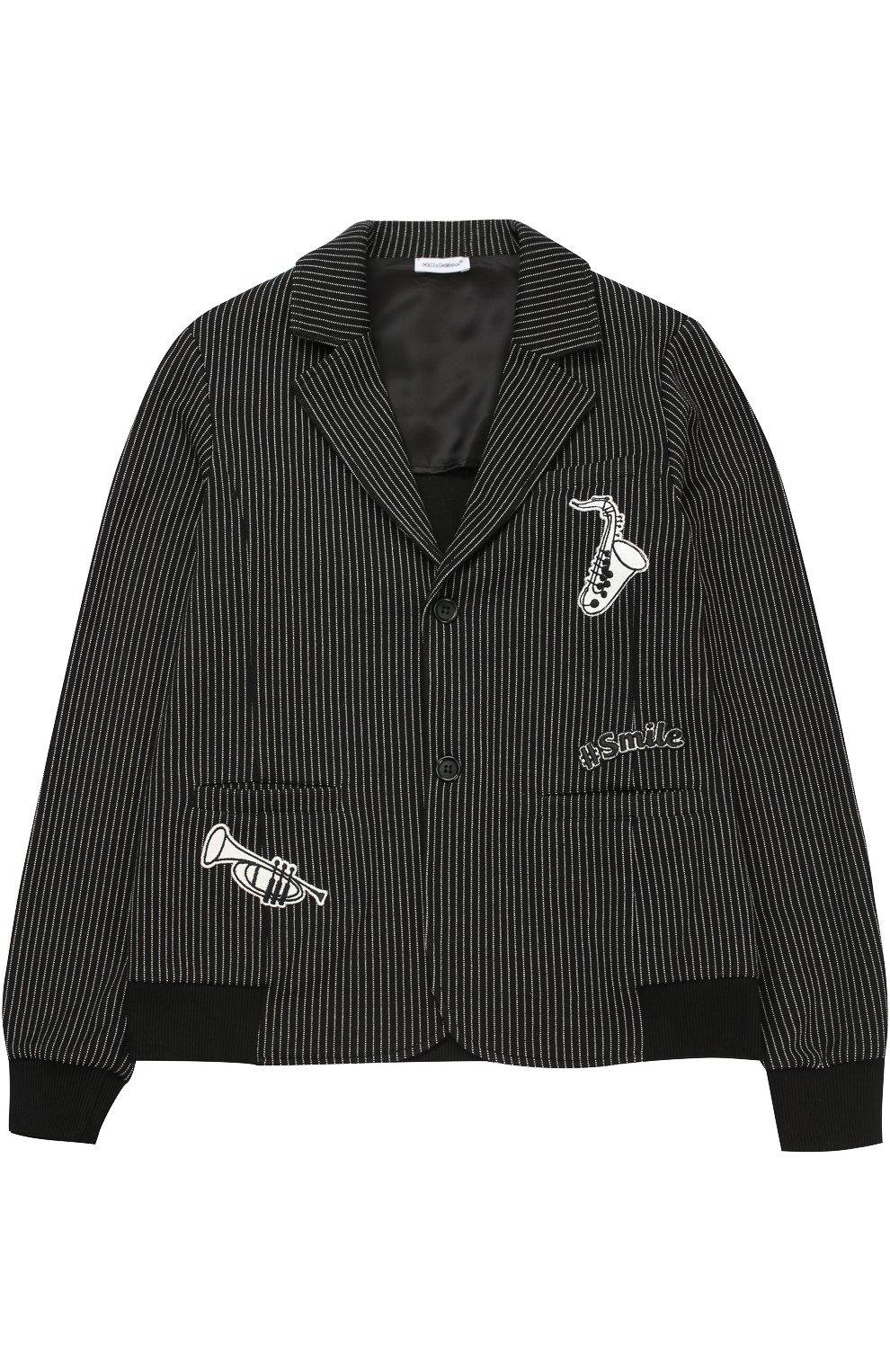 Пиджак с эластичными вставками и нашивками | Фото №1