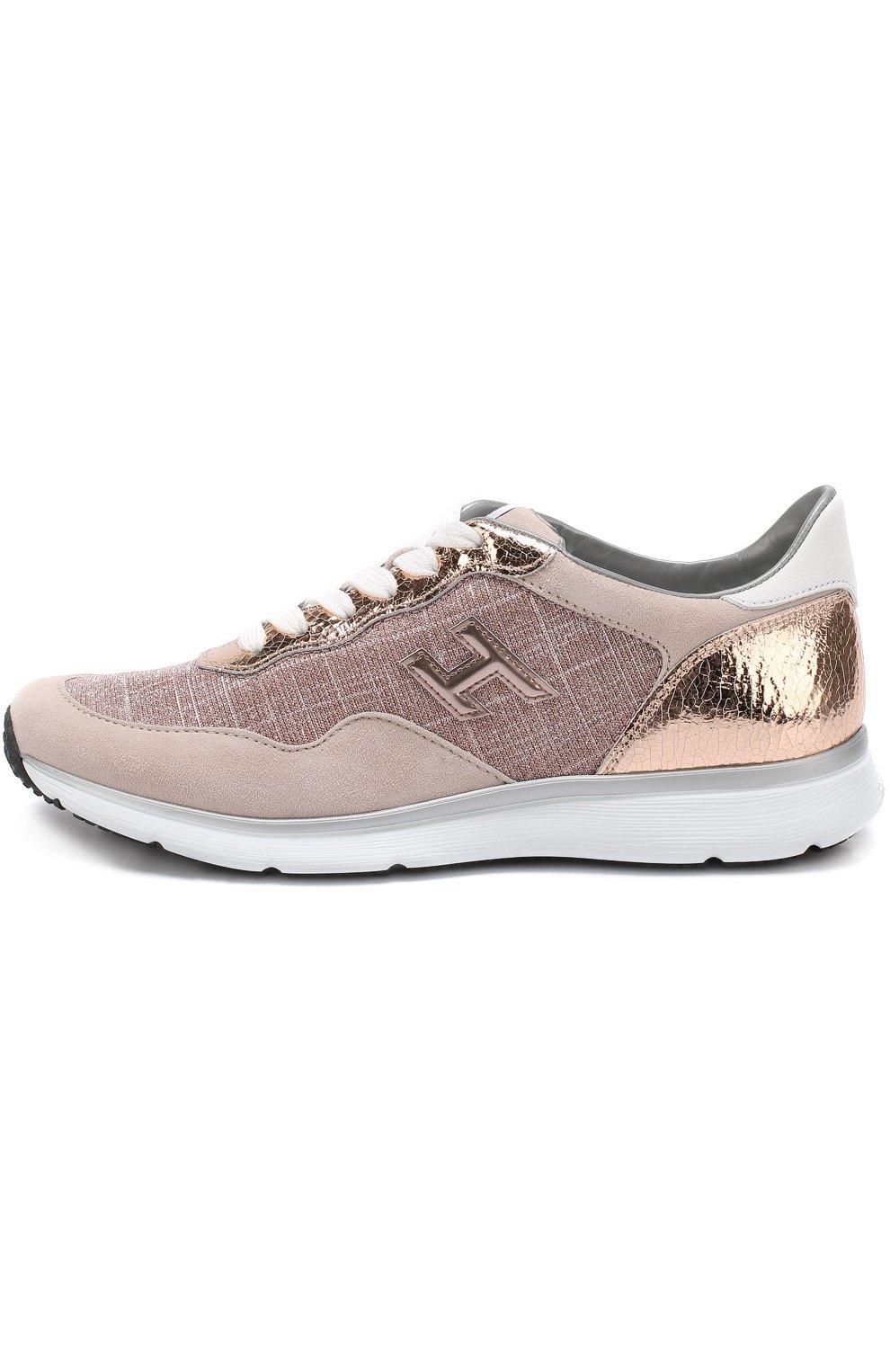 Комбинированные кроссовки на шнуровке | Фото №3