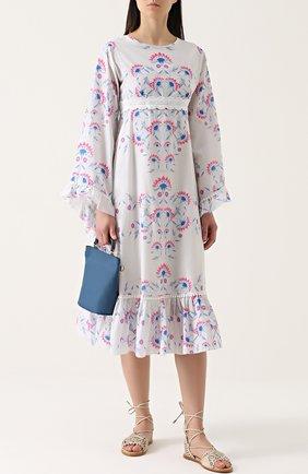 Платье свободного кроя с завышенной талией Athena Procopiou разноцветное | Фото №1