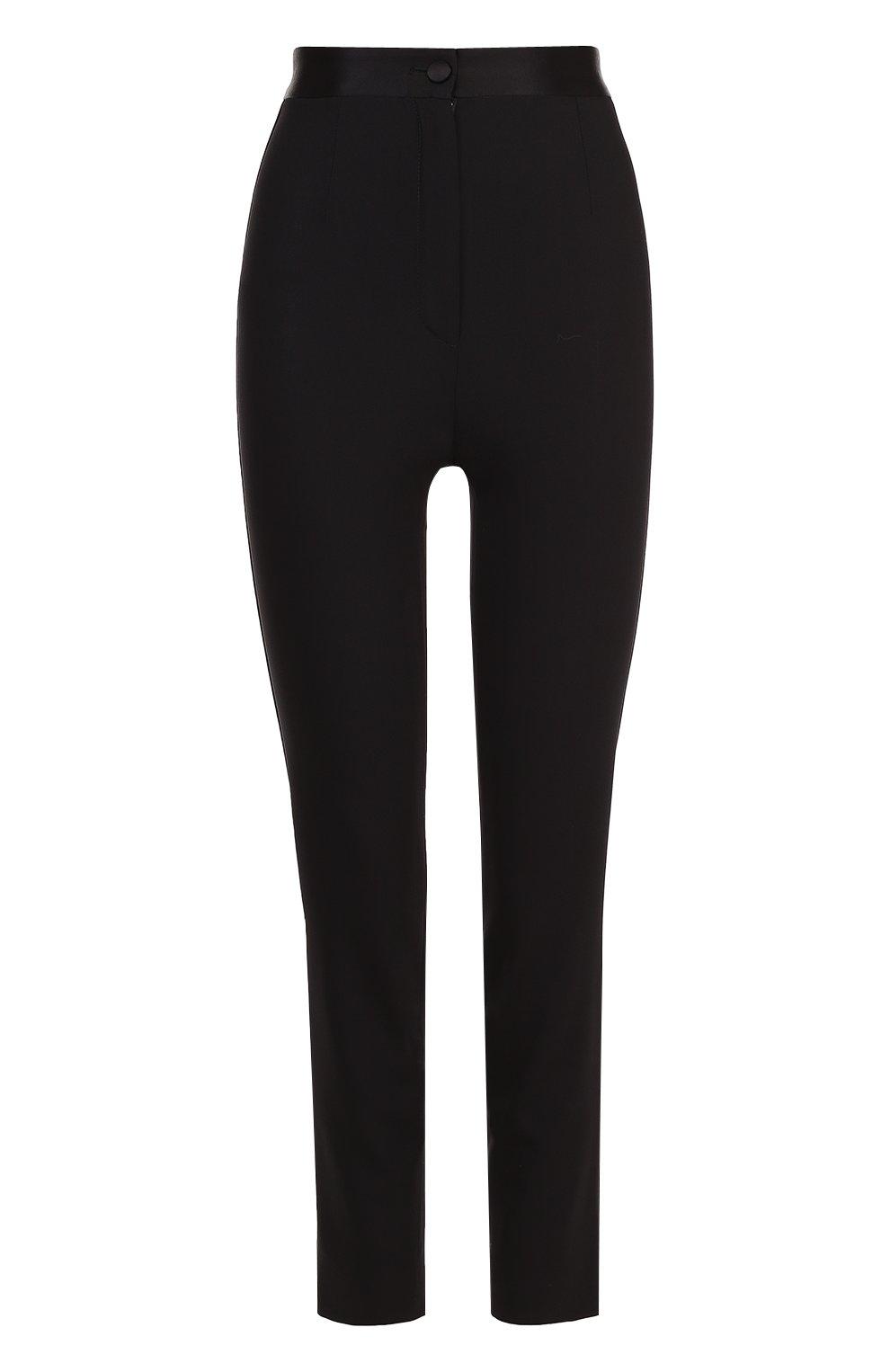 Укороченные брюки-скинни с завышенной талией   Фото №1