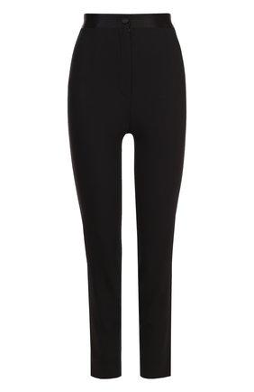 Укороченные брюки-скинни с завышенной талией Dolce & Gabbana черные   Фото №1