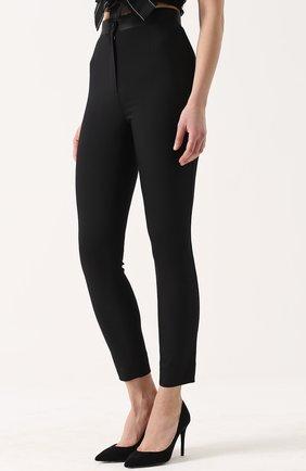 Укороченные брюки-скинни с завышенной талией Dolce & Gabbana черные   Фото №3