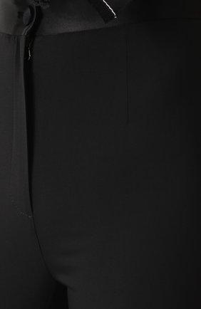 Укороченные брюки-скинни с завышенной талией Dolce & Gabbana черные   Фото №5