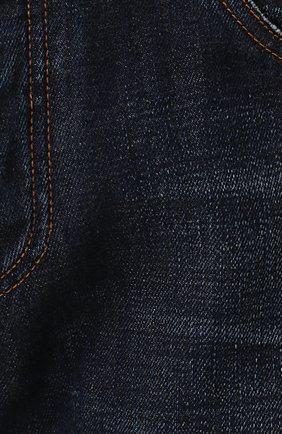 Джинсы прямого кроя с декоративными потертостями Dolce & Gabbana темно-синие   Фото №5